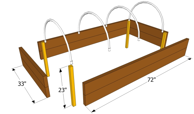 how to build wood raised bed