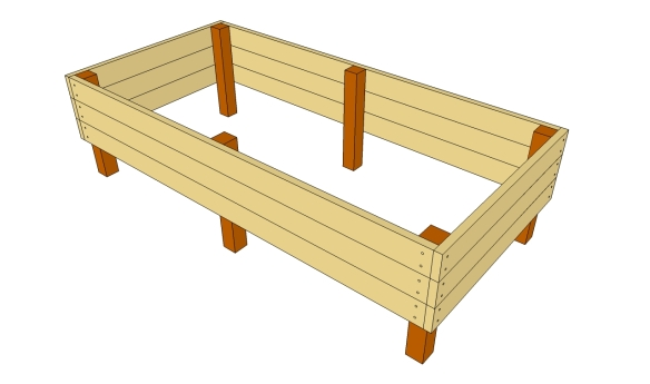 wood raised flower bed plans